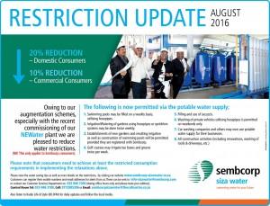 Restriction Update